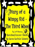 Diary of a Wimpy Kid - The Third Wheel #7 Question & Answer Sheet