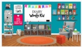 Diary of a Wimpy Kid Themed Virtual Classroom Library-Editable!