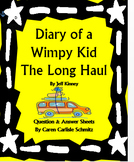 Diary of a Wimpy Kid - the Long Haul Question and Answer Sheets by Jeff Kinney