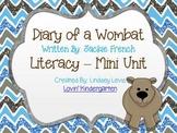 Diary of a Wombat Literacy Mini Unit