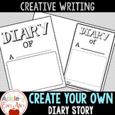 Create your own Diary Story - Writing Template For Diary of a Worm Spider Fly