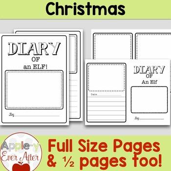 Diary of an Elf Christmas Writing