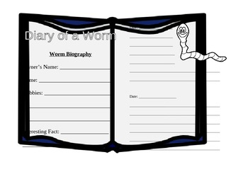 Diary of a Worm Diary Format