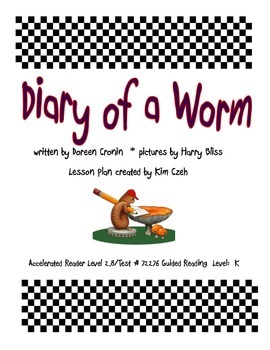 Diary of a Worm Guided Reading Packet