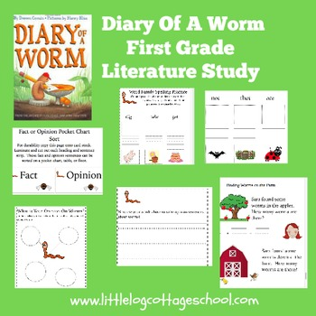 Diary of a Worm Literature Packet