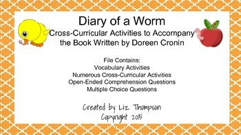 Diary of a Worm Mini Unit