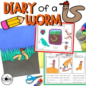 Diary of a Worm Read-Aloud | Distance Learning | for Google Slides