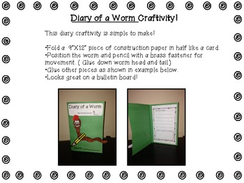 Diary of a Worm-Resource Activity Pack