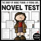 Diary of a Young Girl Anne Frank Novel Test Study Guide included