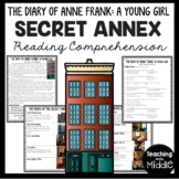 Diary of a Young Girl Anne Frank Secret Annex Reading Comprehension Worksheet