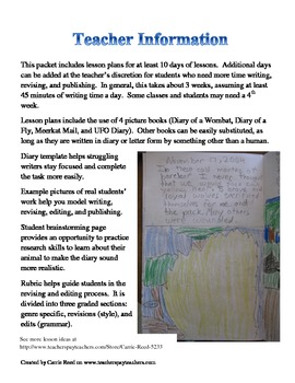 Diary of an Animal: Complete 3-4 Week Writing Unit on Point of View