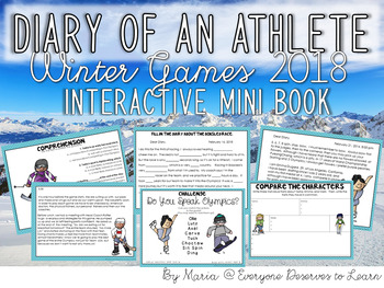 Olympian Winter Games Interactive Fiction Book