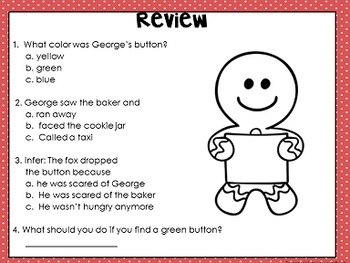 Gingerbread Man Comprehension Interactive Book