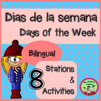 Dias de la semana days of the week bilingual games stations bilingual