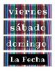 Zarape Classroom Decore: Full Spanish Calendar
