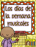 Dias de la semana musicales - Musical Days of the Week in Spanish