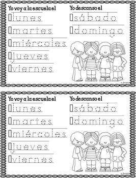 Dias de la semana musicales - Musical Days of the Week in Spanish