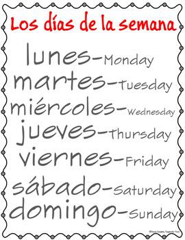 Dias de la semana y meses del año