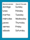 Dias y Meses - Days and Months