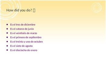 Dias/Meses/Fechas Review Powerpoint