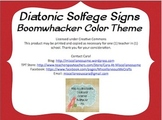 Diatonic Solfege Signs (Tone Colors)