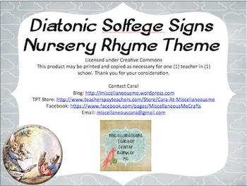 Diatonic Solfege Signs (Nursery Rhyme Theme)