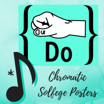 Diatonic and Chromatic Solfege Hand Signs Retro