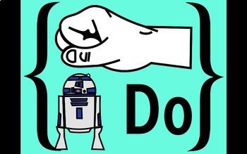 "Diatonic and Chromatic Solfege Hand Signs Retro ""Star Wars"""