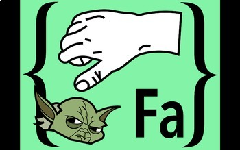 """Diatonic and Chromatic Solfege Hand Signs """"Star Wars"""""""