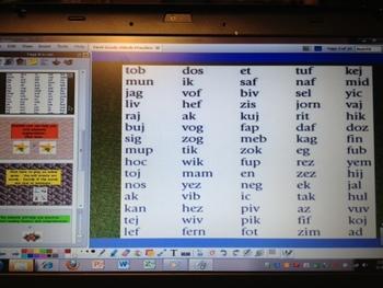 Dibels First Grade Practice - ActivInspire Flipchart