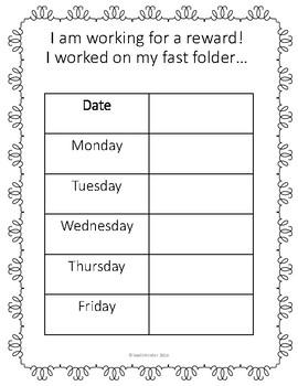 Dibels Fluency - Progress Monitoring - Fast Folder!