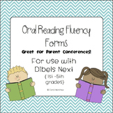 Dibels Next Oral Reading Fluency Forms {Great for Parent Conferences}