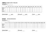 Dibles and DAZE Progress Chart