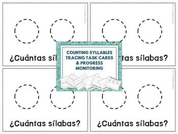 Dibuja Las Sílabas: Multisyllabic Words Tracing Task Cards in Spanish