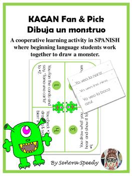 Dibuja un monstruo - Kagan Fan & Pick to practice Spanish