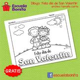 Dibujo para colorear ¨Feliz día de San Valentín¨ - Valenti