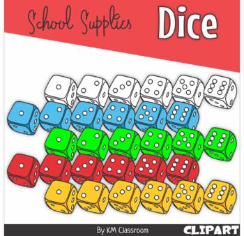 3D Dice Clip Art in Rainbow Colors - Mega Pack