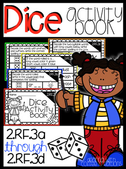 Dice Activity Book {2.RF.3a, 2.RF.3b, 2.RF.3c, 2.RF.3d}