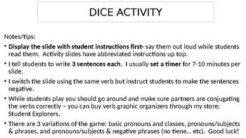Dice Activity using 'Tener'
