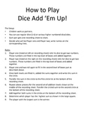 Dice Add 'Em Up - Addition Dice Game