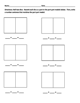 Dice Addition Game - Differentiated