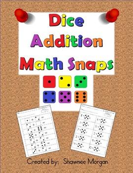 Dice Addition Math Snaps