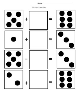 Dice Addition Mystery Number