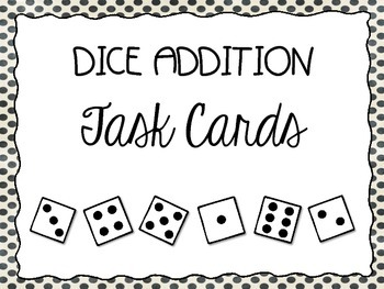 Dice Addition Task Cards