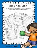 Dice Addition Worksheet Packet