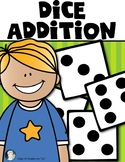 Dice Addition Worksheet- PLUS - Partner Dice Addition Game