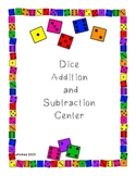 Addition and Subtraction Facts Fluency Practice Math Center