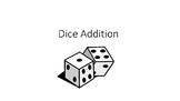 Dice Addition-math center