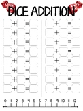 Dice Addition with Numberline
