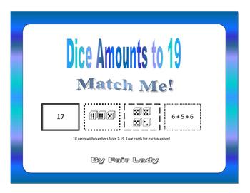 Dice Amounts to 19 - Match Me!